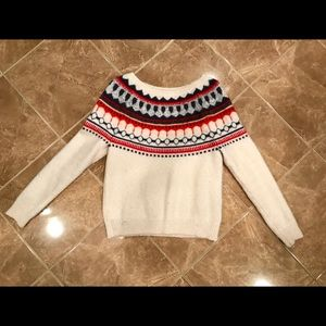 Gap alpine style sweater, red blue, white, small